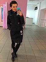 Куртка зимняя, наполнитель -холофайбер, цвет черный