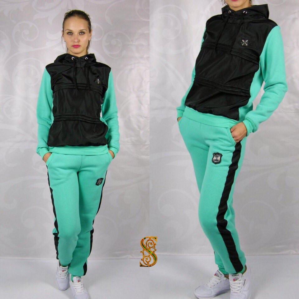 6e9865d5 Женский спортивный костюм Трехнитка с начесом + плащевка на флисе -