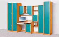 Комплект детской мебели Юниор софт, детская модульная мебель 3000*2050*520
