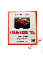 Индийский черный чай с ароматом клубники /Strawberry Tea/ 100 гр