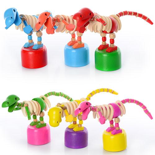 Деревянная игрушка Дергунчик E12576 динозавр