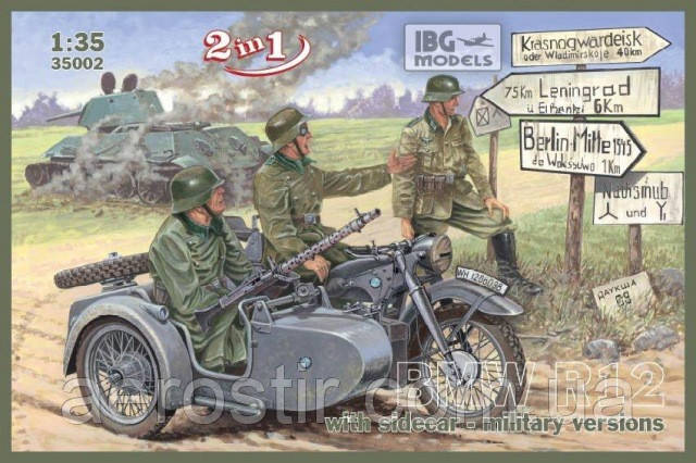 Мотоцикл BMW R12 1/35 IBG 35002