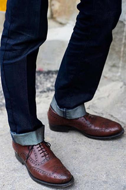1dcff1ea Можно ли носить мужские туфли с джинсами?. Статьи компании «Интернет ...