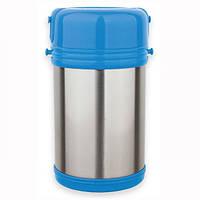 Термос  пищевой 2000мл из нержавеющей стали с пластиковыми контейнерами Kamille 2101