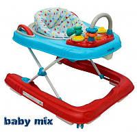 Ходунки на подставке 2 в 1 Alexis Baby Mix красный