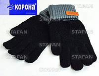 Детские шерстяные двойные перчатки с начёсом Korona E5388-2-R