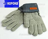 Детские шерстяные двойные перчатки с начёсом Korona E5388-3-R