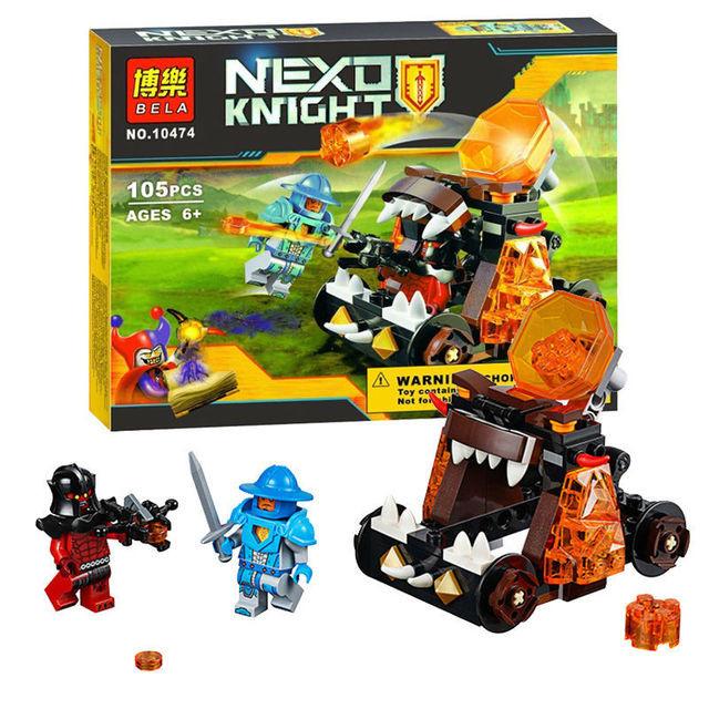 Конструктор лего нексо Bela 10474 Nexo Knights (аналог Лего 70311) 105 дет Безумная катапульта