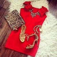 Модное платье с Бантами на плечах