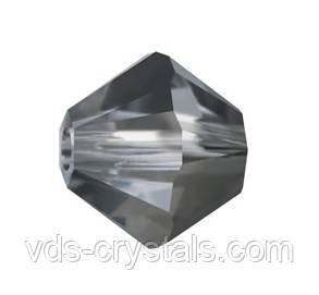 Намистини Swarovski з кришталю биконус 5328 Crystal Silver Night