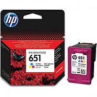 Цветной картридж hp 651 dj ink advantage 5575/5645/officejet 202 tri-color (c2p11ae)