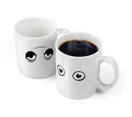 Чашка - хамелеон Глазки Wake Up, фото 2