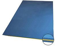 Мат спортивный гимнастический для спортзалов складной синий