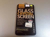 Защитное стекло+пленка Remax для iPhone 5 5s