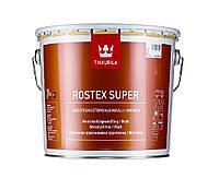 Грунт быстросохнущий TIKKURILA ROSTEX SUPER для металла и оцинковки, светло-серый, 3л