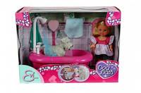 Кукла Эви и набор для купания собаку, с функцией изменения цвета, 3+