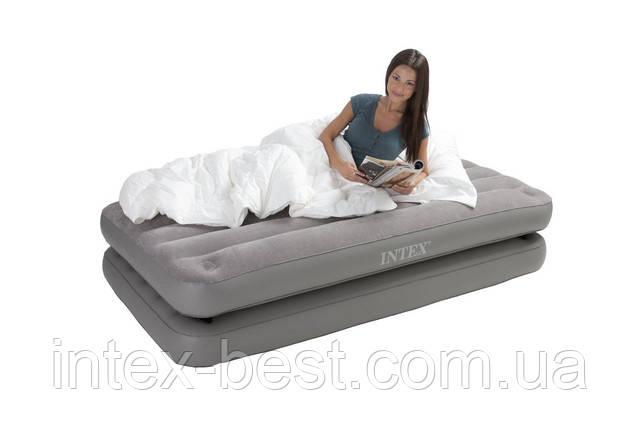 Односпальная надувная кровать Intex 67743 2-IN-1 AirBed ( 99 х 191 х 46 см) без насоса - Интернет-магазин «Intex-Best» в Киеве