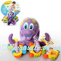 """Игра для купания """"Осьминог-кольцеброс"""" (игрушка для ванной): 5 колец в комплекте"""