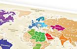 """Скретч карта мира """"Travel Map Gold World"""" (рус) (тубус), фото 3"""