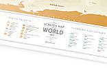 """Скретч карта мира """"Travel Map Gold World"""" (рус) (тубус), фото 5"""