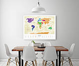 """Скретч карта мира """"Travel Map Gold World"""" (рус) (тубус), фото 9"""