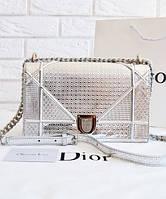 Женская сумка DIOR DIORAMA METALLIC SILVER (2299)
