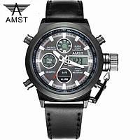 Мужские военные наручные часы Амст / AMST модель - 3003 Оригинал. Black