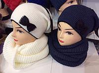 Комплект шапка и шарф (разные цвета)