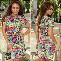 Платье летнее из коттона с веселой расцветкой