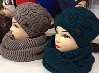 Набор шапка на флисе и шарф - хомут труба (разные цвета), фото 1