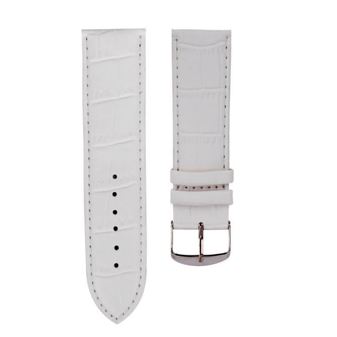 Ремешок для часов белый текстурный 20 мм