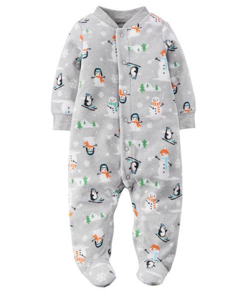 Человечек теплый флисовый Сон & Игра Carters на новорожденного до 55 см