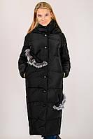 Зимнее стильное длинное пальто на пуху с капюшоном Zilanliya