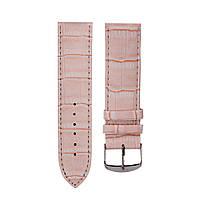 Ремешок для часов розовый текстурный 18 мм