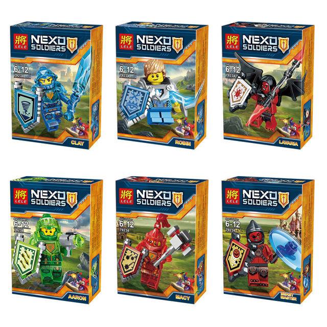Конструктор лего нексо LELE 79234 Nexo Knight 6 видов
