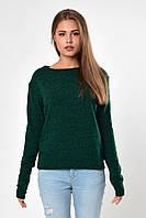 Свитер-лодочка женский зеленый