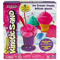 Набор кинетического песка Wacky-tivities - Kinetic sand Ice cream (розовый 283 г, формочки))