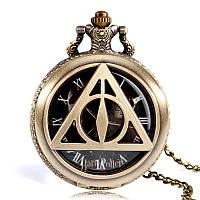 Карманные часы Гарри Поттер черный циферблат