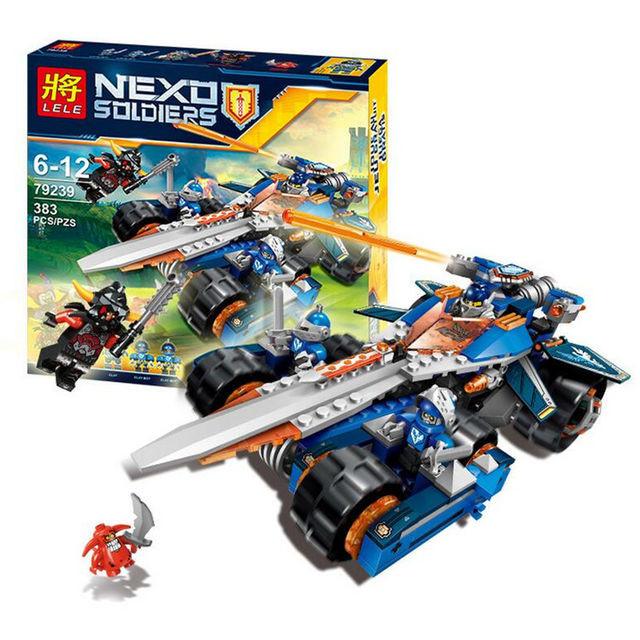 Конструктор лего нексо Lele 79239 Nexo Knights 383 дет Устрашающий разрушитель Клэя