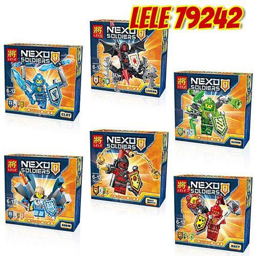 Конструктор лего нексо LELE 79242 Nexo Knight 6 видов