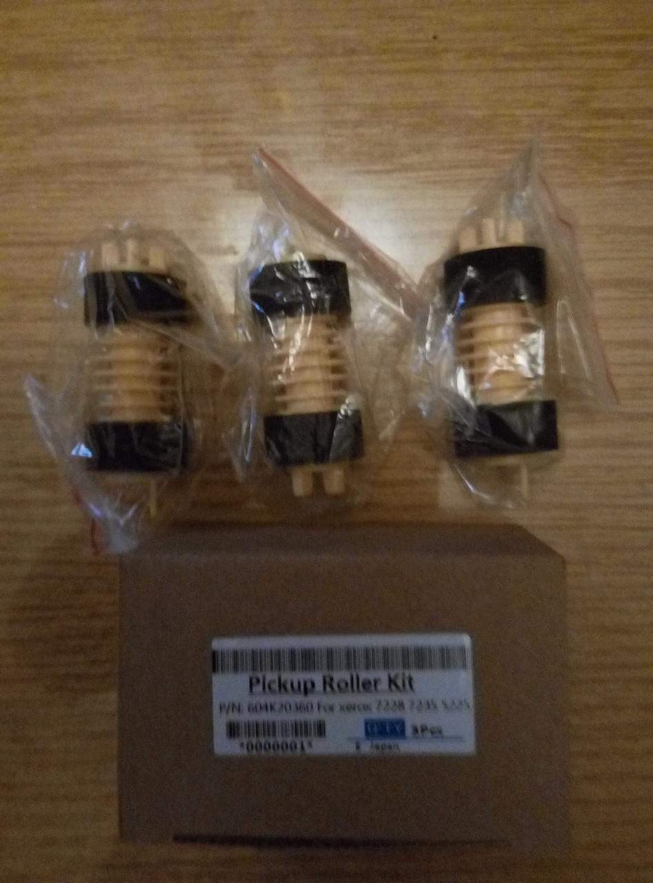 Комплект роликов подачи (3шт.) Feed Roller xerox 604K20360 xerox DC-240/250/242/252 WC-7655/7665 нижних лотков