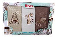 Вафельные кухонные полотенеца 3 шт. 40х60 Beyza Coffee Кофе, фото 1