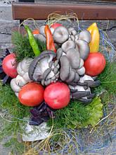 Букет с овощами , вешенками,базиликом