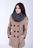 Вязанный шерстяной шарф - хомут