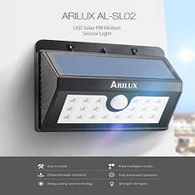 Світлодіодний світильник на сонячній батареї з датчиком руху ARILUX 20 Led 3 режими AL-SL02