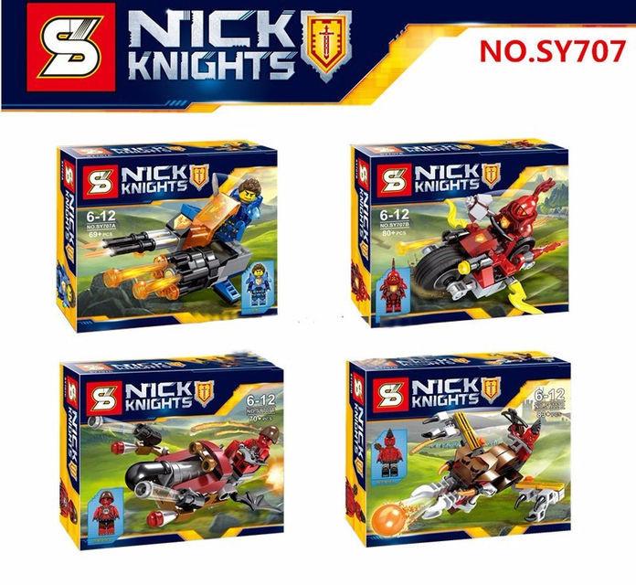 Конструктор лего нексо SY707 Nexo Knight 4 вида