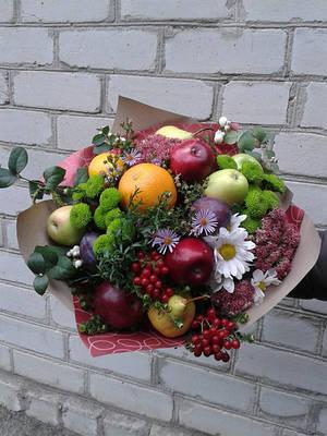 Веган-букет (фрукты и овощи)