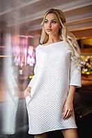 Платье белое букле