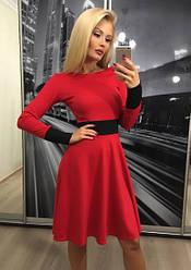 Платье ретро, красный