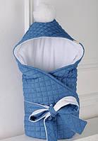 Стеганый джинсовый конверт на трикотаже, фото 1